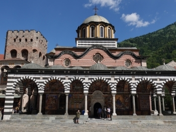 Main church Sweta Bogorodiza - Nativity of the Virgin Mother in Rila Monastery