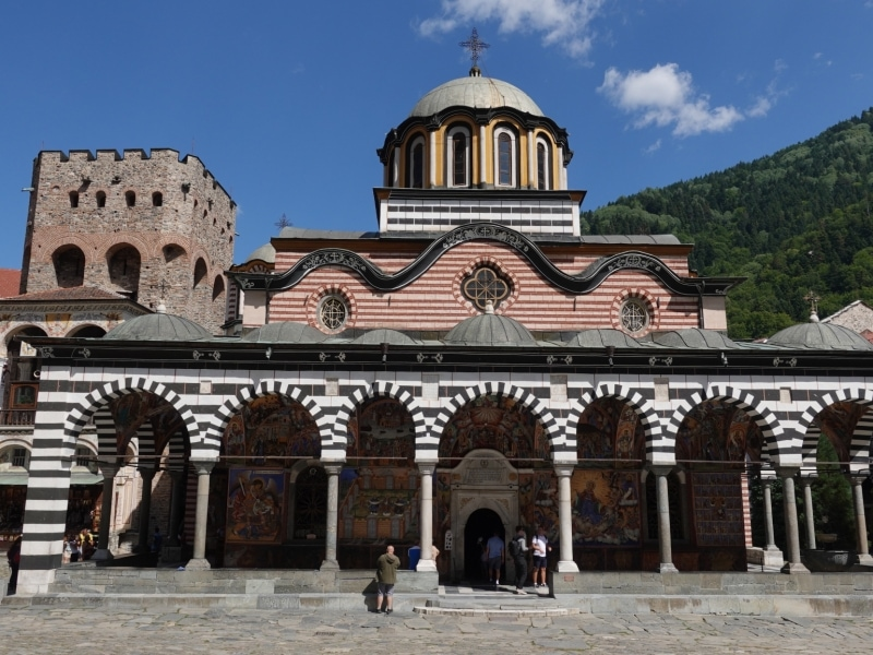 Main church Sweta Bogorodiza - Nativity of the Virgin Mother in Rila Monastery