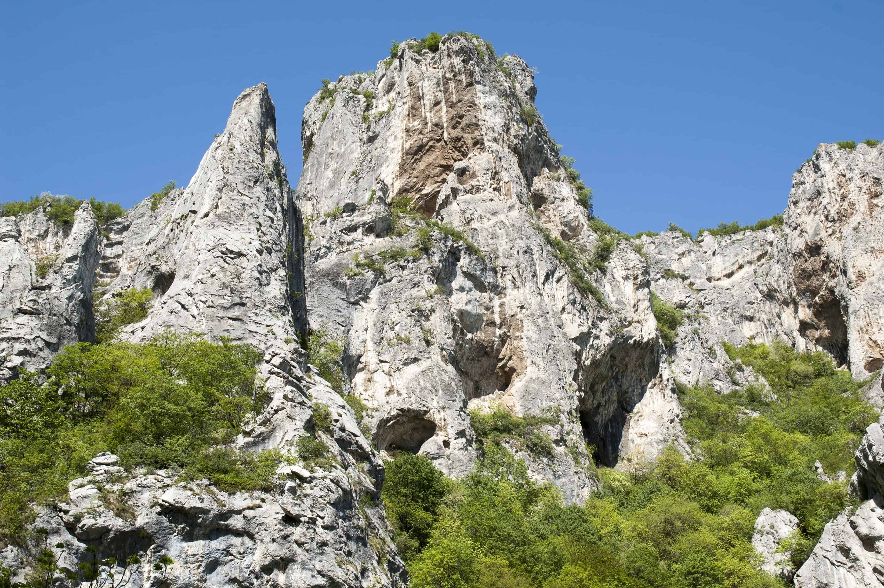 Limestone rocks in Monastery gorge - photo: Vrachanski Balkan Nature Park
