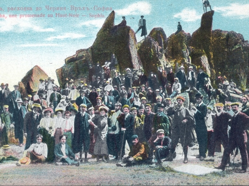 Postcard commemorating the first climb - photo: Vitosha Nature Park