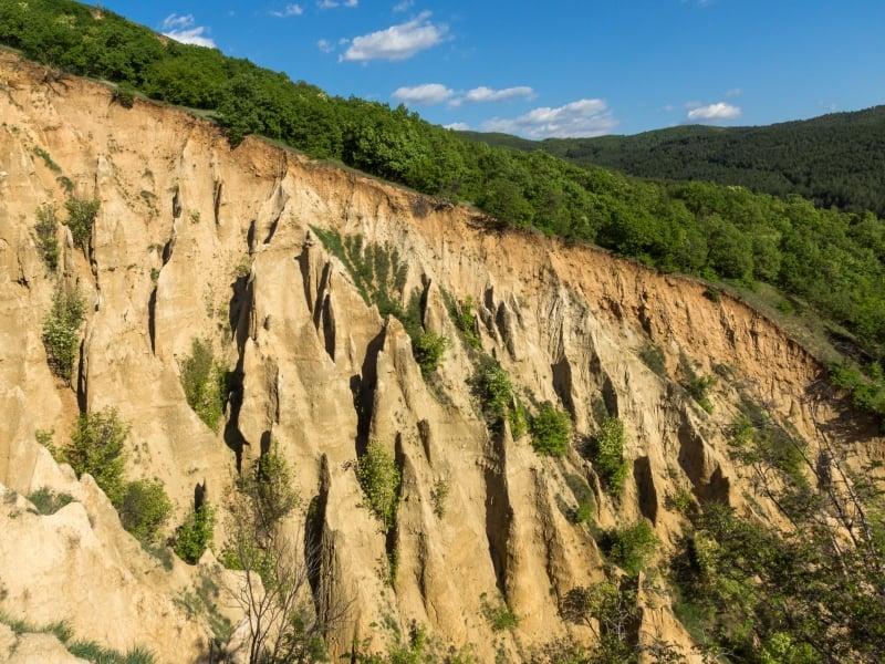 The sandstone pyramids of Stob, Kjustendil, Bulgaria