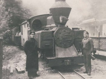 The old narrow-gauge railway (historic photo) - Photo: Rila Monastery Nature Park Directorate