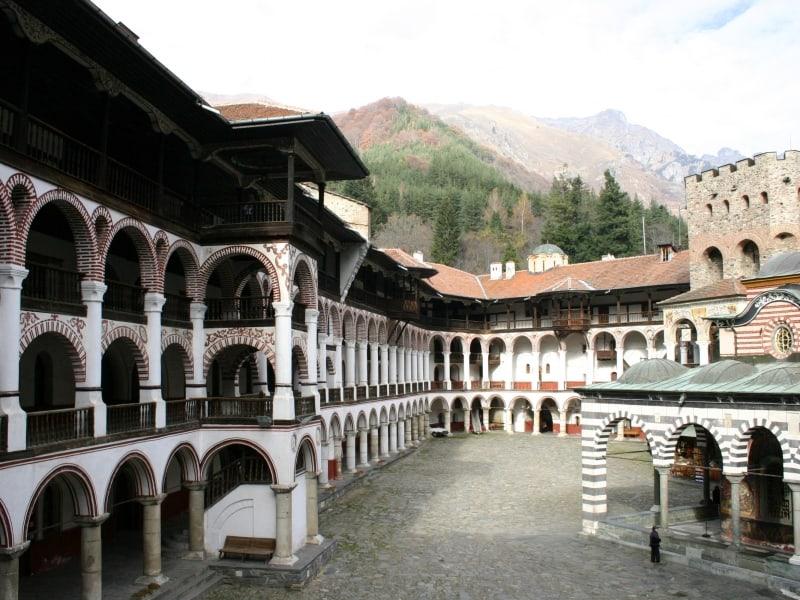 Yard of Rila Monastery, Bulgaria - Photo: Rila Monastery Park Directorate